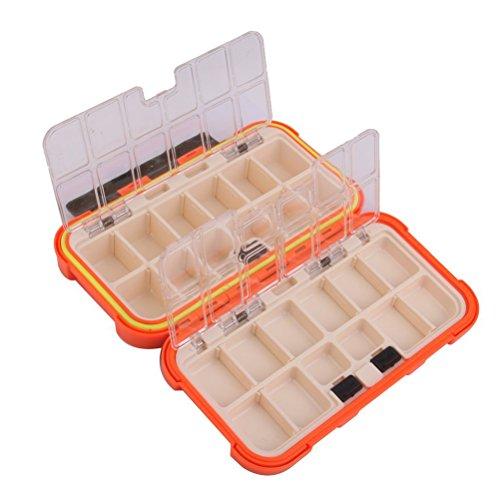 LUOEM Cassetta per attrezzatura da pesca scatola per ami da pesca esche portamosche con 24 scomparti impermeabile