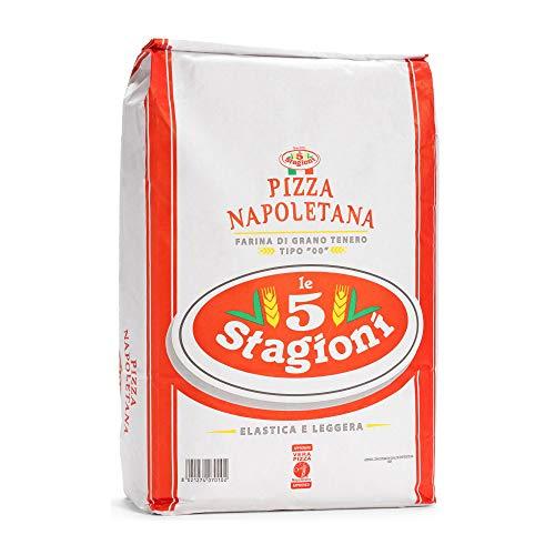 Le 5 Stagioni Pizza Napoletana Italiano '00' Harina de Trigo Suave - Producto 100 % Italiano Para Preparar una Verdadera Pizza Napoletana. 1 Kilogramo