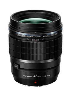 Olympus M.Zuiko Digital ED 45mm 1:1.2 PRO - Objetivo (45 mm, ángulo de visión 27°, apertura máxima 1:1.2, efecto bokeh, 14 elementos / 10 grupos) negro