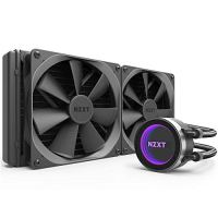 NZXT Kraken X62 280mm - RL-KRX62-02 - AIO RGB CPU Liquid Cooler - CAM-Powered - Infinity Mirror Design - Performance Engineered Pump - Reinforced Extended Tubing - Aer P140mm Radiator Fan (2 Included)