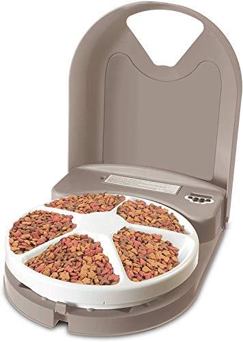 PetSafe Futterautomat Futterspender Eatwell 5 Mahlzeiten für Tiere, Hunde und Katzen, Programmierbar, LCD-Bildschirm, BPA-frei