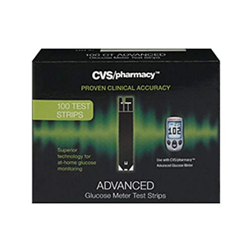 Expect More CVS Advanced Glucose Meter Test Strips 100 ct