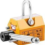 Happybuy Steel Magnetic Lifter 220 LB Metal Lifting Magnet 100 KG Neodymium Magnetic Lift Hoist Shop Crane(100KG)