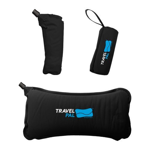 Travel Pal Self Inflating Lumbar Support Pillow Black (Lifetime Warranty)