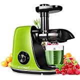 CIRAGO Juicer Machines, Slow Masticating Juicer Extractor Two Speed Adjustment, Easy to Clean, Quiet Motor, Cold Press Juicer for Vegetables and Fruits, BPA-Free