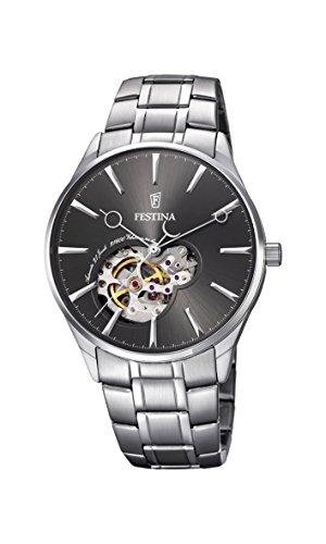 Festina Herren Analog Automatik Uhr mit Edelstahl Armband F6847/2