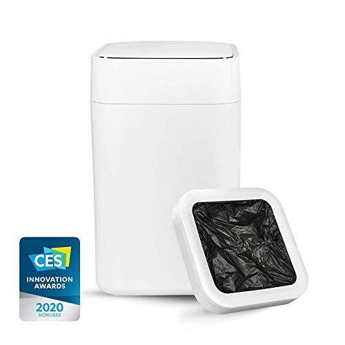 Townew Cubo de Basura Inteligente, Blanco, Capacidad 15.5 litros