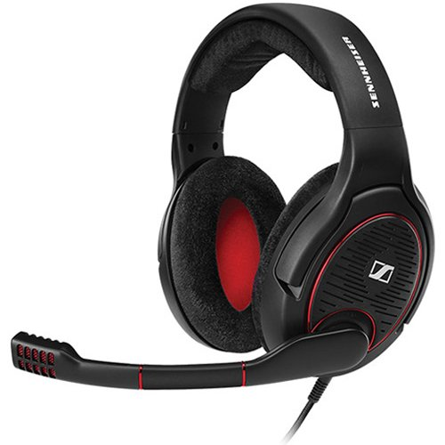 Sennheiser Game One Gaming Headset, Open Acoustic, Noise-canceling mic, Flip-To-Mute, XXL plush velvet ear pads, PC, Mac, Xbox One, PS4, Nintendo Switch, and Smartphones - Black