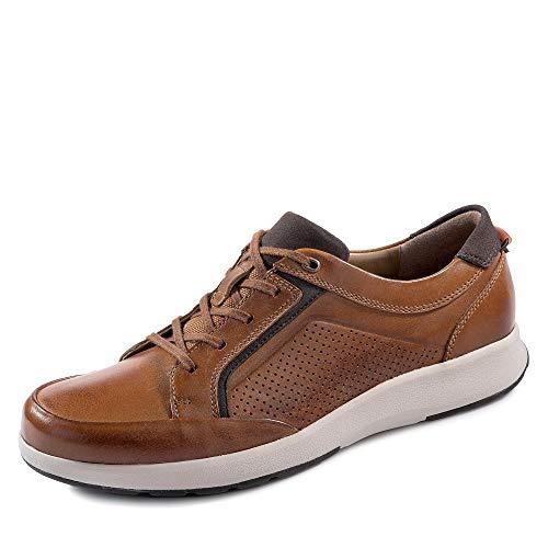 Clarks Un Trail Form, Zapatos de Cordones Derby para Hombre, Marrón (Tan Leather-), 42.5 EU