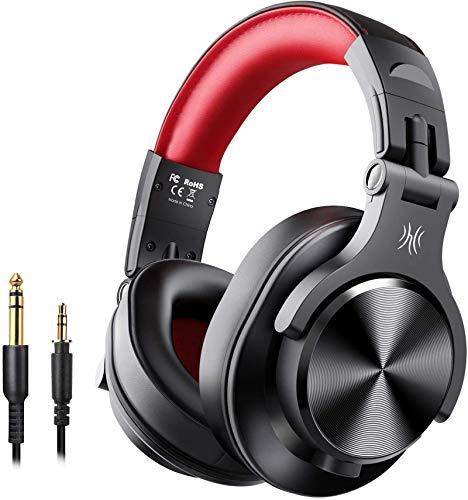 OneOdio - Cuffie Bluetooth over-ear con SharePort, cuffie professionali con cavo e wireless, per DJ, chitarra elettrica, tastiera e batteria elettronica, amplificatore, registrazione e monitoraggio