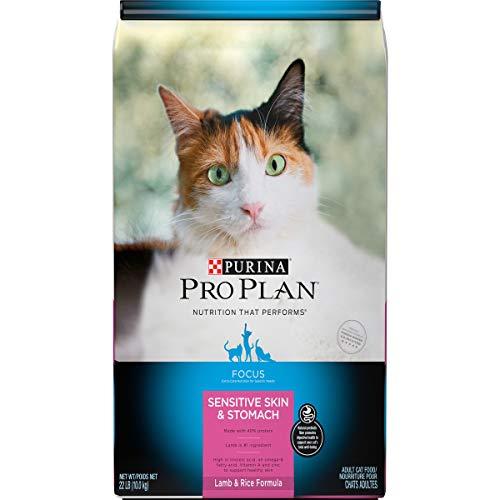 Purina Pro Plan Sensitive Stomach Dry Cat Food, Focus Sensitive Skin & Stomach Lamb & Rice Formula - 22 lb. Bag