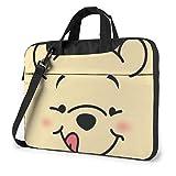 XCNGG Winnie Laptop Bag Business Maletín para Hombres y Mujeres, Bandolera de Hombro, Funda para computadora portátil, Bolsa de Transporte, 14 Pulgadas