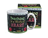 Teaching Is A Work Of Heart Teacher's Coffee Mug With Gift Box