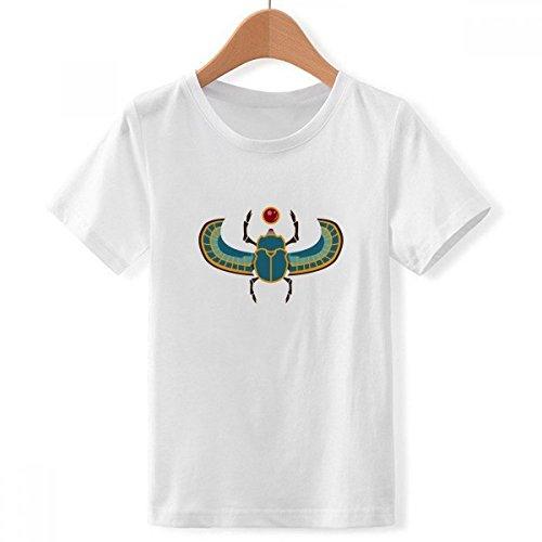 DIYthinker Egipto del Escarabajo atonismo de Cuello Redondo Camiseta para Chico X-Grande