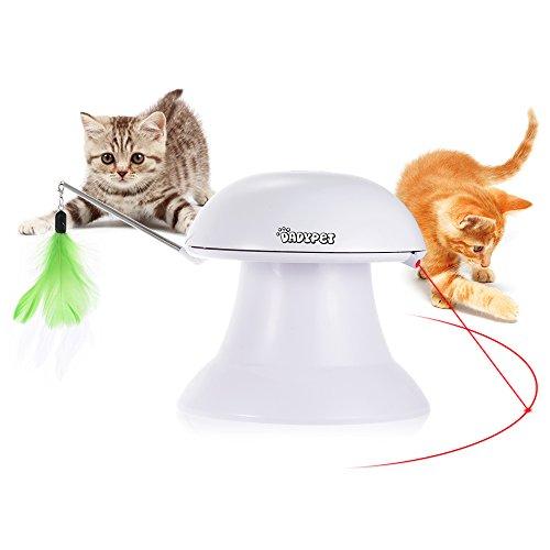 DADYPET Elektrisch kattenveren speelgoed   Intelligentie speelgoed   Roterend   Wit