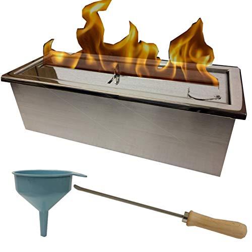 Kaminbau Miezwa Large adjustable stainless steel 2 liter burner for gel and ethanol fireplaces