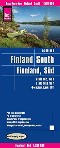 Finlandia sur 1:500.000 mapa impermeable de carreteras. Reise Know-How.: world mapping project