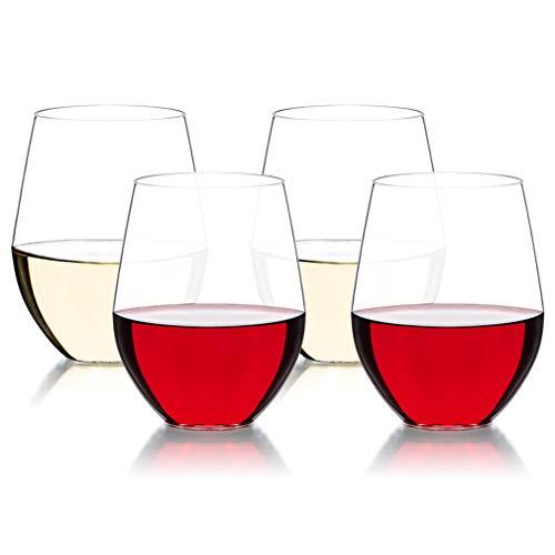 Michley Infrangibile Bicchiere di Vino Tritan-plastica Bicchiere Potabile Senza BPA Bicchiere 470ml Set di 4