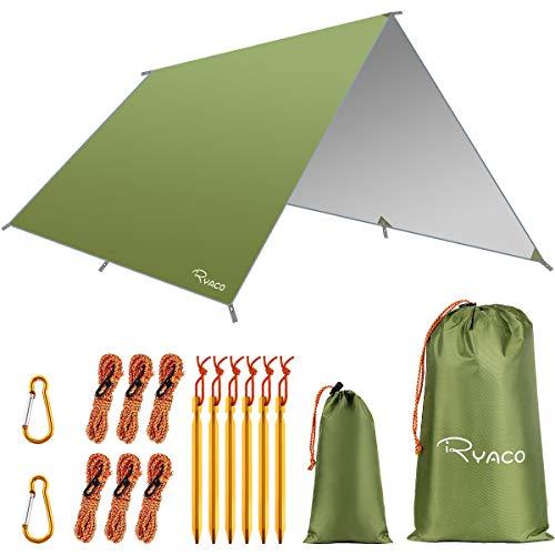 Ryaco Bâche Anti-Pluie, Camping Bâche Rain Tarp Toile de Tente...