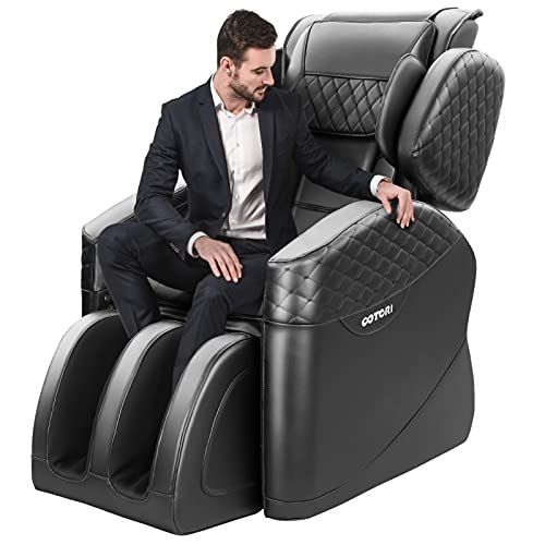 KASPURO 2020 New Massage Chair, Massage Chairs Full Body and Recliner, Zero Gravity Massage Chair, Airbags Shiatsu Massage Chair Recliner with Lower Back Heating and Foot Roller (Black-1)