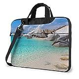 Laptop Notebook PC Bolso de Hombro-Stones Blue Sea Ocean Sunrise Mountain Portátil PC Mochila de Hombro Bolso Maletín Messenger con Correa 15.6 ″