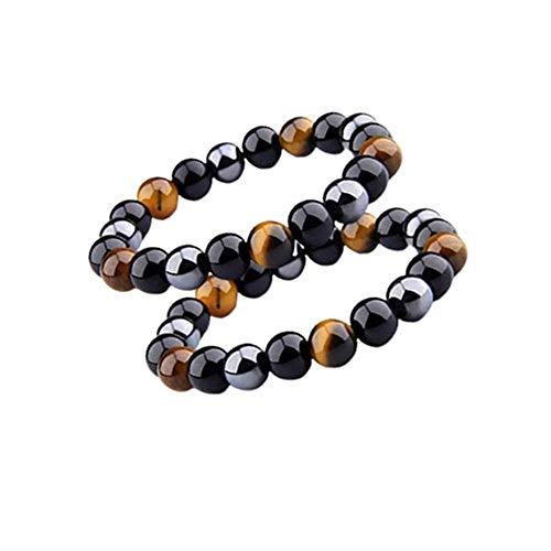 2pcs Triple Protection Bracelet Hematite, Obsidian, Tiger...
