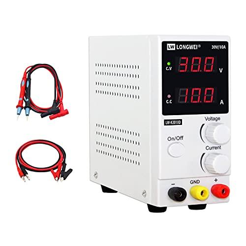 DC Power Supply Variable,0-30 V / 0-10 A LW-K3010D...