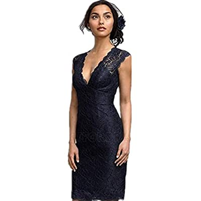 Feature:Sleeveless,V-neck,Built-In Bra,Knee-length,Trend:Classic & Timeless,Silhouette:Sheath/Column. Suit for Evening,Cocktail,Wedding Party Prom,Graduation,Birthday Party and most of Formal Occasion. Please refer to our size chart among the picture...