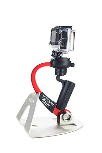 Steadicam Curve-BK Handheld Video Stabilizer and Grip for GoPro Hero Cameras 3, 4 Black & Hero 5 (Red)