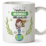 Mugffins Tazza Mamma - Migliore Mamma del Mondo - Tazza Originale in Ceramica Idea Regalo Festa della Mamma