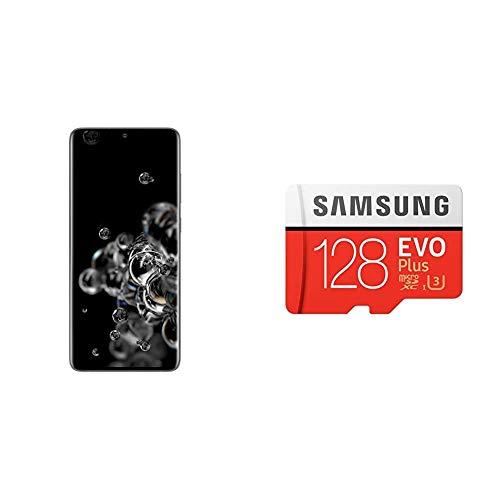 Samsung Galaxy S20 Ultra (Cosmic Gray, 12GB RAM, 128GB Storage)-Samsung EVO Plus 128GB microSDXC UHS-I U3 100MB/s Full HD & 4K UHD Memory Card with Adapter 1