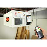 Shop Fox W1830 3-Speed Hanging Air Filter, White