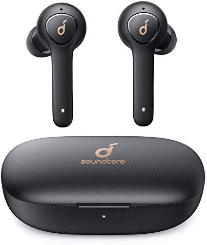 Soundcore Life P2 Bluetooth Kopfhörer, Wireless Earbuds CVC 8.0 Geräuschisolierung, kristallklares Klangprofil, 40 Std. Akku, IPX7 Wasserschutz, Aufladen mit USB-C, für Arbeit und unterwegs