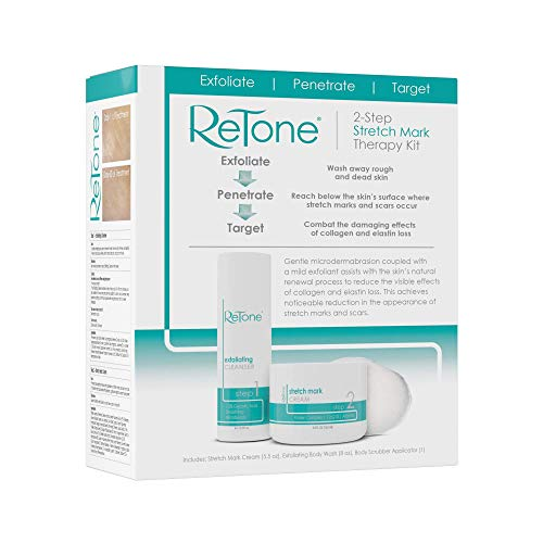 ReTone Stretch Mark Removal: Comprehensive Stretch Mark Treatment (Stretch Mark Cream + Body Cleanser + Body Scrubber) 8