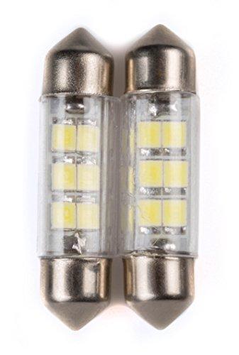 C10W Coppia di Lampadine 8 Led Siluro per luci auto 12V 10W SV8,5