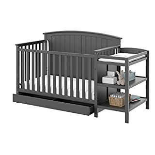 4-IN-1 DESIGN: This 4-in-1 Convertible Crib converts easily from crib to toddler bed, (guardrail sold separately), day bed & even full bed (bed frame sold separately). This crib provides your child with a comfortable place to sleep for their whole li...