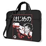 XCNGG Hajime no Ippo Anime Laptop Hombro Messenger Bag Tablet Computadora Almacenamiento Mochila Bolso 14 Pulgadas