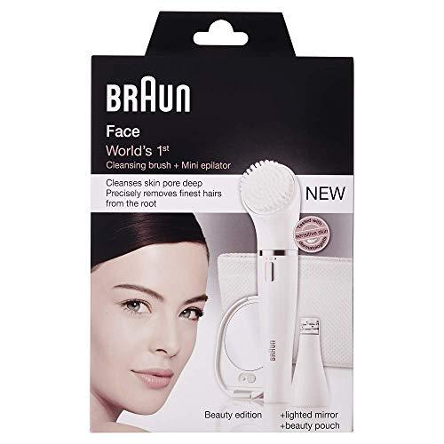 Braun Face SE831 Epilatore e Spazzola di Pulizia per il Viso, Edizione Beauty con Specchio...