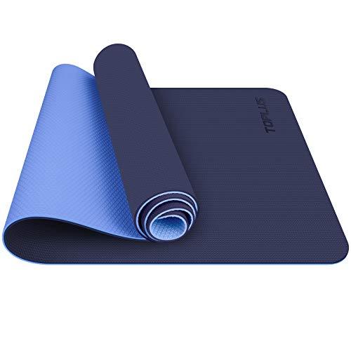 TOPLUS Gymnastikmatte, Yogamatte Yogamatte Gepolstert & rutschfest für Fitness Pilates & Gymnastik mit...