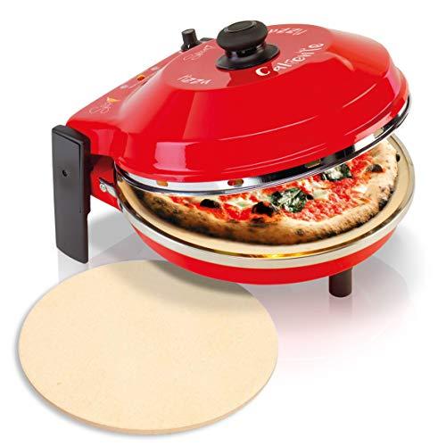 Spice Set Forno Pizza Caliente 400 gradi resistenza circolare 1200 W + seconda Pietra Refrattaria ricambio