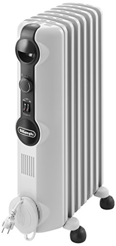 DeLonghi Radia S TRRS0715 - Radiador de aceite, 3 nieveles de potencia, termostato, 1500 W