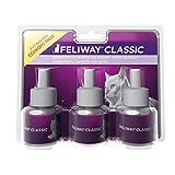 Feliway Classic, flacone di ricarica, 3 pezzi da 48 ml, confezione risparmio, Tierglück24, per il benessere dei gatti