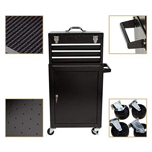Product Image 3: 3 Drawer Mini Mechanic Tool Box Rolling Garage <a href=