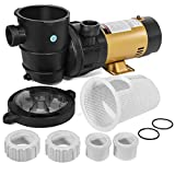 XtremepowerUS 75113 Pump Pool ABOVEGROUND 1.5HP 2SPEED Energy Saving, Black