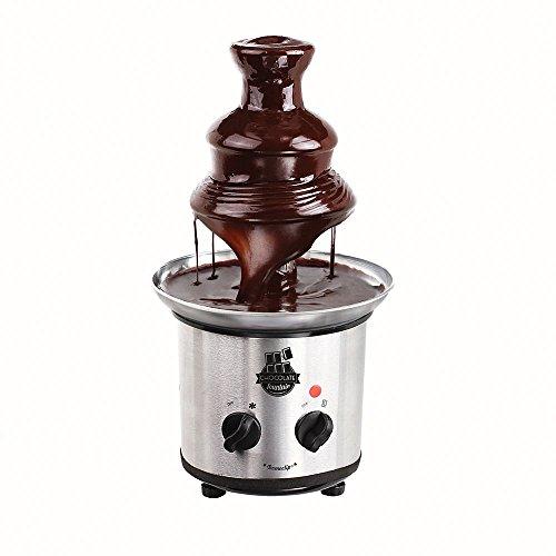 LIVOO DOM377 Schokoladenbrunnen, 3 Etagen, Schneckengewinde, für Zuckerfondue, Kapazität 1 kg, Edelstahl 320 W