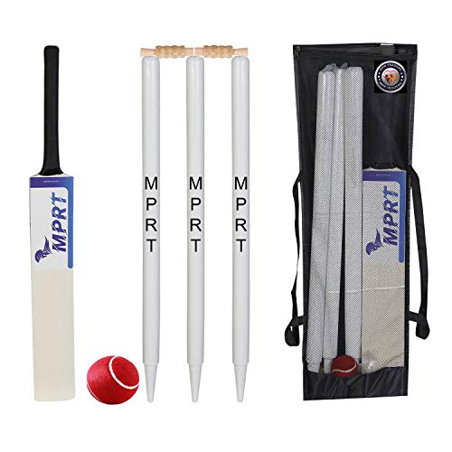 MPRT Wooden Cricket Kit for Tennis Ball Size 3 Combo for Age Group 5-10 Years
