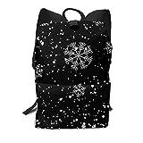 Homebe Mochila Unisex, Christmas Snowflake Travel Business Slim Durable Laptops School Backpack Bookbag For College Travel Hiking Fit Laptop