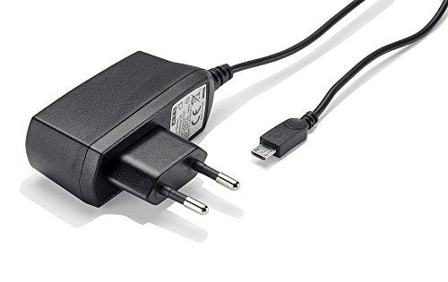 Slabo Caricabatterie Micro USB - 1000mA - per Wiko Jerry 3 | Lenny 5 | Tommy 3 | View 2 PRO | Go | Lite | Max Caricatore rapido per Caricabatterie da Viaggio per telefoni cellulari - Nero