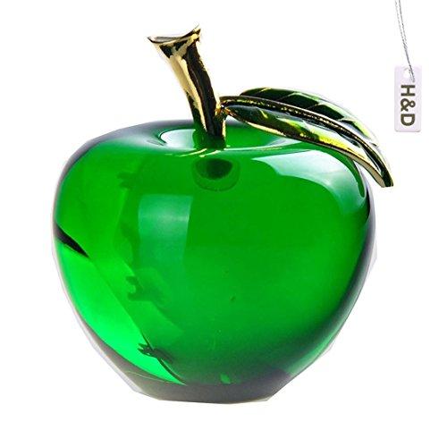 H&D 55MM釉製水晶リンゴ クリスタルアップル ペーパーウェイト ギフト インテリア 開運グッズ 装飾...