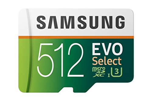 Samsung  (MB-ME512GA/AM) 512GB 100MB/s (U3) MicroSDXC Evo Select Memory Card with Adapter